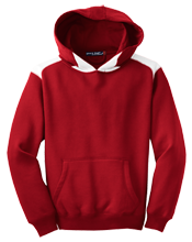 Our Lady Lourdes Regional High School Red Raiders Youth Colorblock Hooded Pulovers