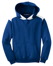 Hallowell Elementary School Hallowell Hounds Youth Colorblock Hooded Pulovers