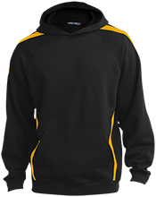 The Gilbert School Yellowjackets Youth Sleeve Stripe Hooded Pullover