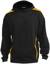 Bowley Elementary School Bobcats Youth Sleeve Stripe Hooded Pullover