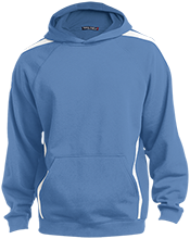 Bath Middle School Wildcats Youth Sleeve Stripe Hooded Pullover