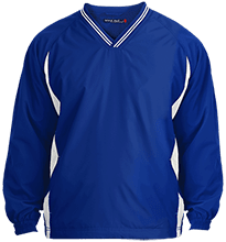 Samnorwood School Eagles Youth Tipped V-Neck Wind Shirt