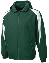 Indian Creek Upper School Eagles Youth Colorblock Fleece-Lined Jacket
