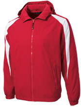 Nicholls School Redskins Youth Colorblock Fleece-Lined Jacket