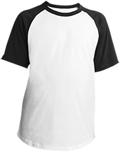 Dubuque, Univ. of School Youth SS Colorblock Raglan Jersey