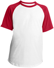 Bay View High School Redcats Youth SS Colorblock Raglan Jersey