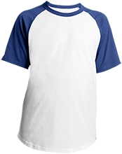 Cousino High School Patriots Youth SS Colorblock Raglan Jersey
